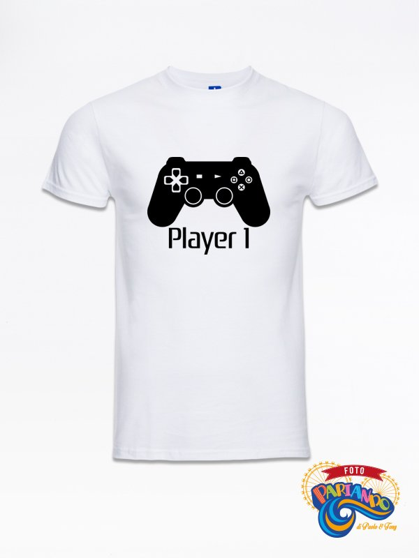 T shirt maglietta uomo player one playstation