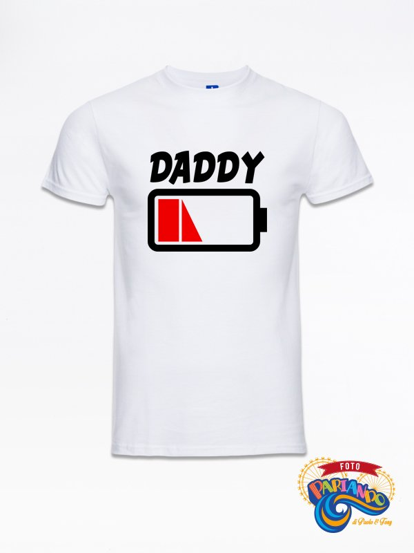 T shirt maglietta uomo daddy low batter