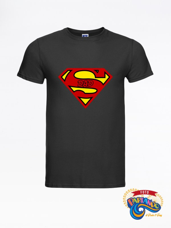 T shirt maglietta uomo super dad superman