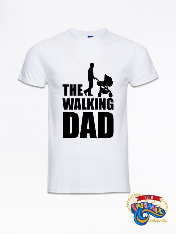 T shirt maglietta uomo the walking dad