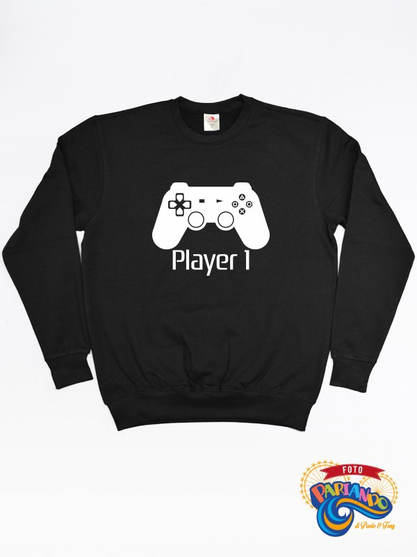 Felpa uomo player one playstation