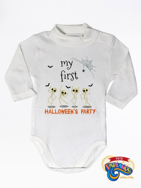 Lupetto neonato manica lunga my first halloween's party !