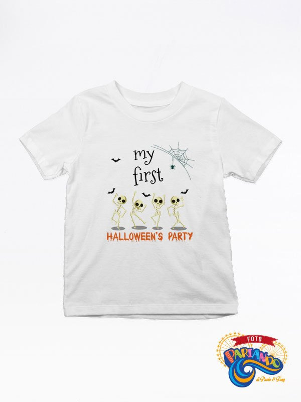 T shirt maglietta bambino my first halloween's party !