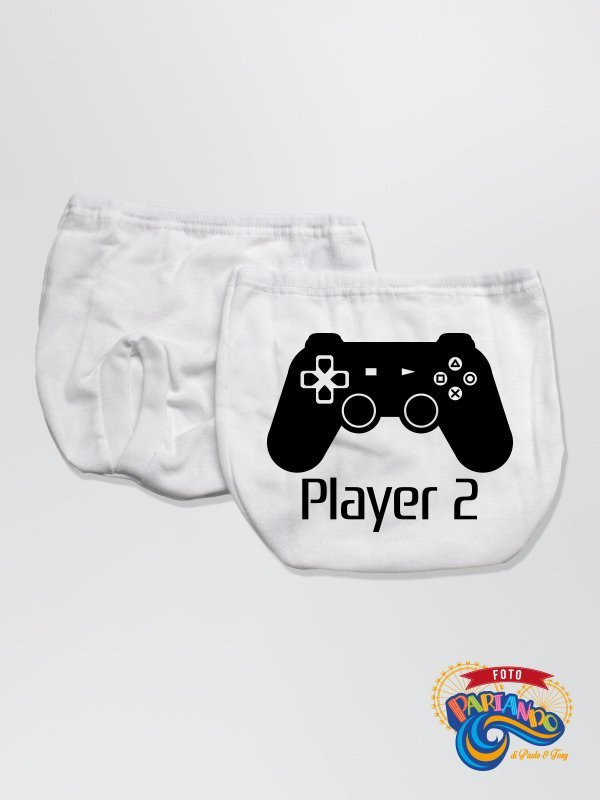 Mutandina Copripannolino Neonato Player 2 play station