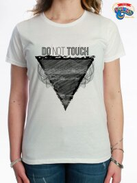 T shirt maglietta donna do not touch naples smoke seafront