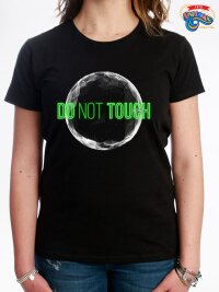 T shirt maglietta donna do not touch the world neon edition