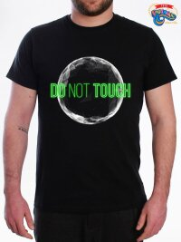 T shirt maglietta uomo do not touch the world neon edition